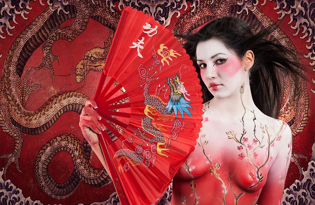 Bodypainted Geisha